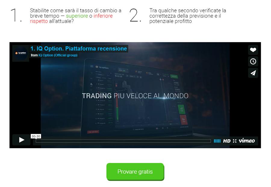 trading opzioni binarie testimonianze